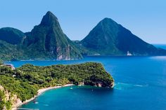 The Pitons of Saint Lucia- beautiful