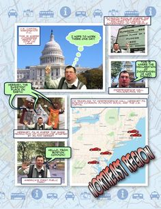 App Smashing LayerPic, Comic Life, Doink Green Screen, and Thinglink - 'Northeast Region Road Trip' Example by Gallagher_Tech