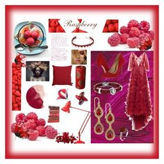 """""""Raspberry"""" by indiagurl ❤ liked on Polyvore featuring art"""