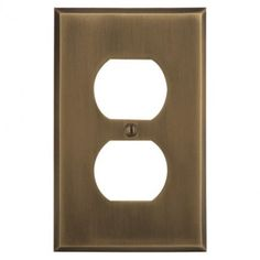 Solid Brass Classic Duplex Outlet Cover