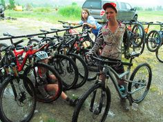 Girls are sad to leave bikes....  after demo days