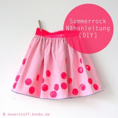 Sommerrock Nähanleitung DIY - easy skirt tutorial by knobz