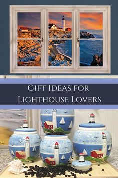 Gift Ideas for Lighthouse Lovers The best gifts for lighthouse lovers are gifts they can use around the home.  Therefore consider giving cool, fun and trendy lighthouse home decor as gifts for family and friends who love light houses.  This is especially