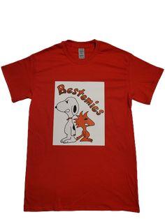 Snoopy Bestemies Tshirt - L / Red