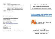 Programm hiko tagung görlitz 01 03 okt 2015   http://sowa.quicksnake.de/Schlesisches-Museum/Tagung-der-Historischen-Kommission-fr-Schlesien-vom-1-3-10-2015-im-Schlesischen-Museum-zu-Grlitz