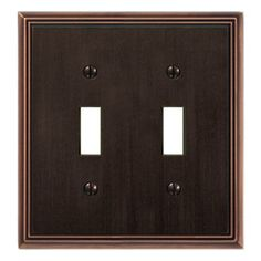 montage metro 2gang standard toggle wall plate