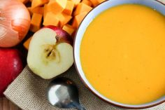 Thick, creamy, and absolutely fantastic, this Butternut Squash and Apple Soup is a great winter warmer, and super easy to make!