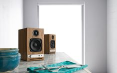 Best Wireless Speaker of 2018 - In an era of booming, tweaked bass and highly sculpted frequency responses, Audioengine continues to remind us what Best Wireless Speakers, Best Speakers, Home Speakers, Music System, Speaker System, Audiophile, Listening To Music, Good Things, Design