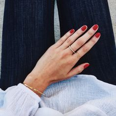 Red nails are the flare your hand needs!
