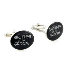 Brother of The Groom Silver and Black Wedding Cufflinks Fantasyard. $19.99. Gift box available for an additional fee. Please check out through gift-wrap option. Other color available. Exquisitely detailed designer style