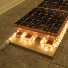 Rope lighting finds new life in a DIY heat mat. Its a great post-holiday project for gardeners.Click To Enlarge