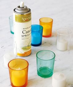Spritz a glass votive holder with cooking spray before your light your candle for easy removal post-melting.