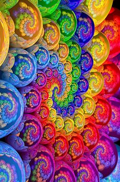 """Your inner strength is your outer foundation"" ~ Allan Rufus * A rainbow swirl of mandala stones <3 lis"