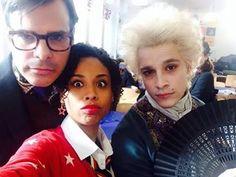 Saphirblau - Mr Whitman (Johannes von Matuschka), Leslie (Jennifer Lotsi) & James (Kostja Ullmann)   Behind the scenes