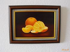 Irma Endrey: Still life with oranges; oil on canvas