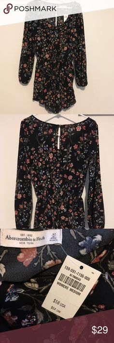 NWT Abercrombie & Fitch A&F floral romper size M Brand new with tags Abercrombie & Fitch A&F long sleeve romper in size M. This romper has a pretty floral print and is made of a light and breatheable material. The waist is elastic and fits & flatters a range of sizes. Abercrombie & Fitch Pants Jumpsuits & Rompers
