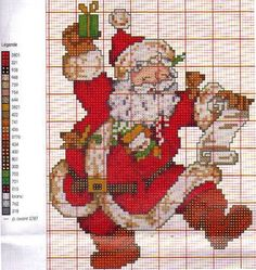 Cross-stitch Happy Santa... https://www.facebook.com/pages/Ponto-Cruz-da-R%C3%AA/466100856859370