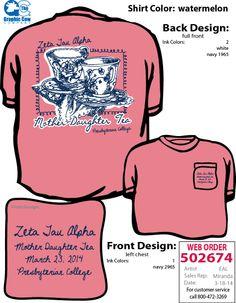#ZTA Mother-Daughter Tea T-shirt