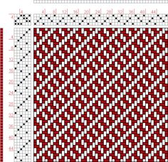 Hand Weaving Draft: Plate 36, Figure 16, Dictionary of Weaves Part I by E.A. Posselt, 4S, 6T - Handweaving.net Hand Weaving and Draft Archiv...