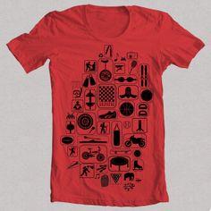 "Camiseta roja ""SPORT"""
