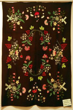 Embroidered blanket from Lihula, Estonia