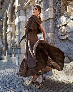 One Shoulder, Shoulder Dress, Brown Dress, Chic Dress, Feminine Style, Fashion Online, Photo And Video, Summer Dresses, Videos