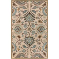 Artistic Weavers - Tapis Brentwood beige  en laine  - 5 Po. x 8 Po. - Brentwood-58 - Home Depot Canada
