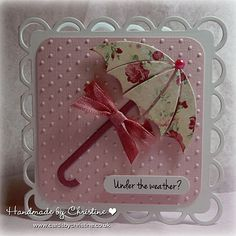 Under the Weather - love this card and color scheme, very pretty.