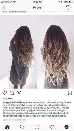 Easyouth Clip In Hair Extensions : Remy Human Hair 10 Pieces Balayage Ombre Color Clip Brown Hair With Highlights, Brown Hair Colors, Brown Hair With Ombre, Long Hair Colors, Darker Hair Color Ideas, Long Ombre Hair, Dyed Hair Ombre, Dark Ombre, Color Highlights