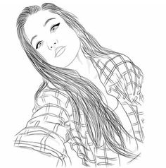 grafika girl, outline, and draw