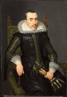 1620 Attributed to Salomon Mesdach - Portrait of a Man, Possibly Walterus Fourmenois