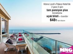 Kıbrıs Lord's Palace Hotel'de 2 gece tam pansiyon plus konaklama + uçak bileti + transfer 648 TL'den başlayan fiyatlarla.
