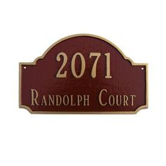 Montague Metal Products Estate Fitzgerald Address Plaque Finish: Sea Blue / Silver, Mounting: Lawn