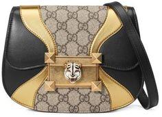 78caa9d5c2d3 Gucci Mini Osiride GG Supreme   Leather Shoulder Bag Gucci Shoulder Bag
