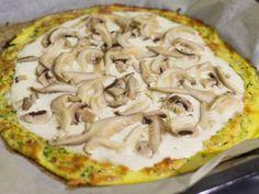 Cuketová pizza bez múky s hlivou a šampiónmi