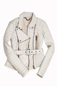 Burberry White Leather Jacket
