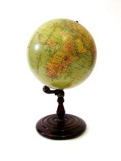 Vintage World Globe Rare Early Replogle Depression Era by UPSTARTS