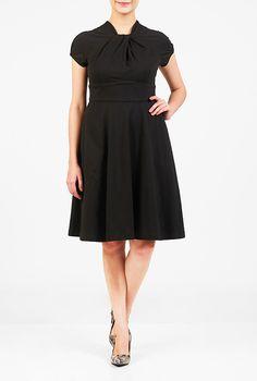 I <3 this Knot neck cotton knit dress from eShakti