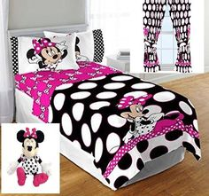 Disney Minnie Mouse polka dots twin/full comforter, full sheet set (fitted sheet, flat sheet, and 2 pillowcases), Minnie Plush Pillow Buddy and Curtain set panels each measuring inches & 2 tiebacks) Single Bedding Sets, Kids Bedding Sets, Sheet Curtains, Drapes Curtains, Mickey Mouse Room, Minnie Mouse, Baby Doll Car Seat, Twin Sheets, Comforters