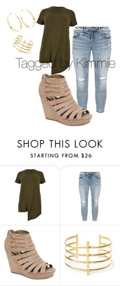 """""""Curvy and beautiful"""" by taggedbykimmie15 on Polyvore featuring River Island, Silver Jeans Co., Madden Girl, BauXo and Lana"""