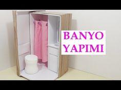 Barbie Bebek Eşya Yapımı D.I.Y Ayakkabı Kutusundan Kolay Banyo Yapımı - YouTube
