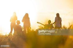 Sunset Beach party with a group of friends. All images in this portfolio are…