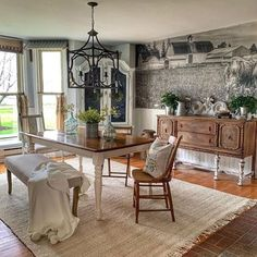 Trendy Area Rugs | Quality Area Rugs Online | Boutique Rugs Shabby Chic Farmhouse, Antique Farmhouse, Farmhouse Style Decorating, Farmhouse Decor, Faux Marble Countertop, Rugs In Living Room, Dining Rooms, Kitchen Dining, Kitchen Decor