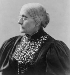 * 2/15: Birthday of Susan B. Anthony (1820),Susan B. Anthony (Courtesy of the Library of Congress)