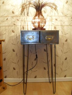 I have for sale a STUNNING 2 DRAWER METAL INDEX CARD FILING CABINET ON HAIRPIN LEGS. This stunning, up-cycled cabinet has been…