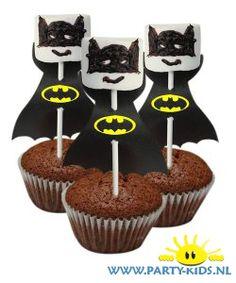 traktaties: Batman op cakeje zelf maken