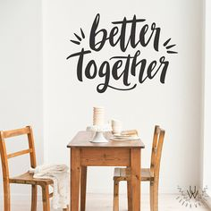 Vinyl Wall Sticker Decal Art  Better Together by urbanwalls