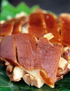 lechon (spit roasted pork) Puerto rican food ..yummy