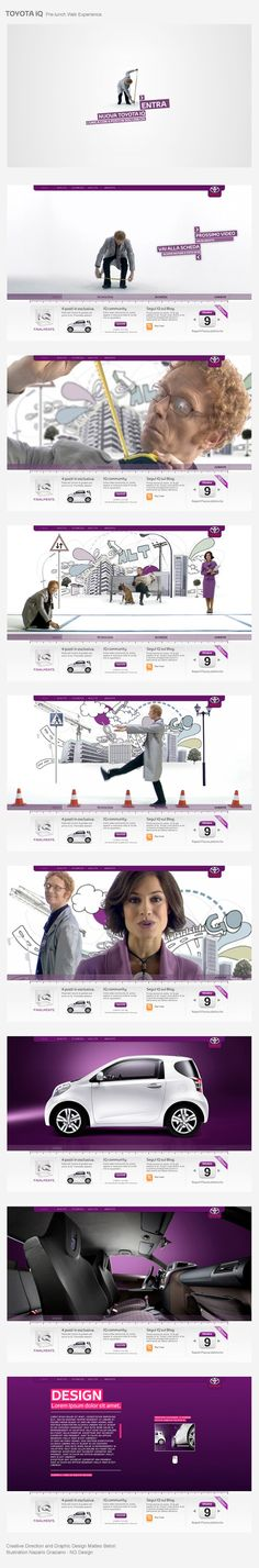 TOYOTA iQ - Pre-Launch Web Experience. by Matteo Betori, via Behance