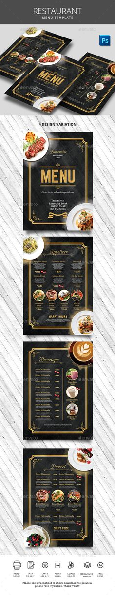 Restaurant Menu Template PSD. Download here: https://graphicriver.net/item/restaurant-menu/17464660?ref=ksioks